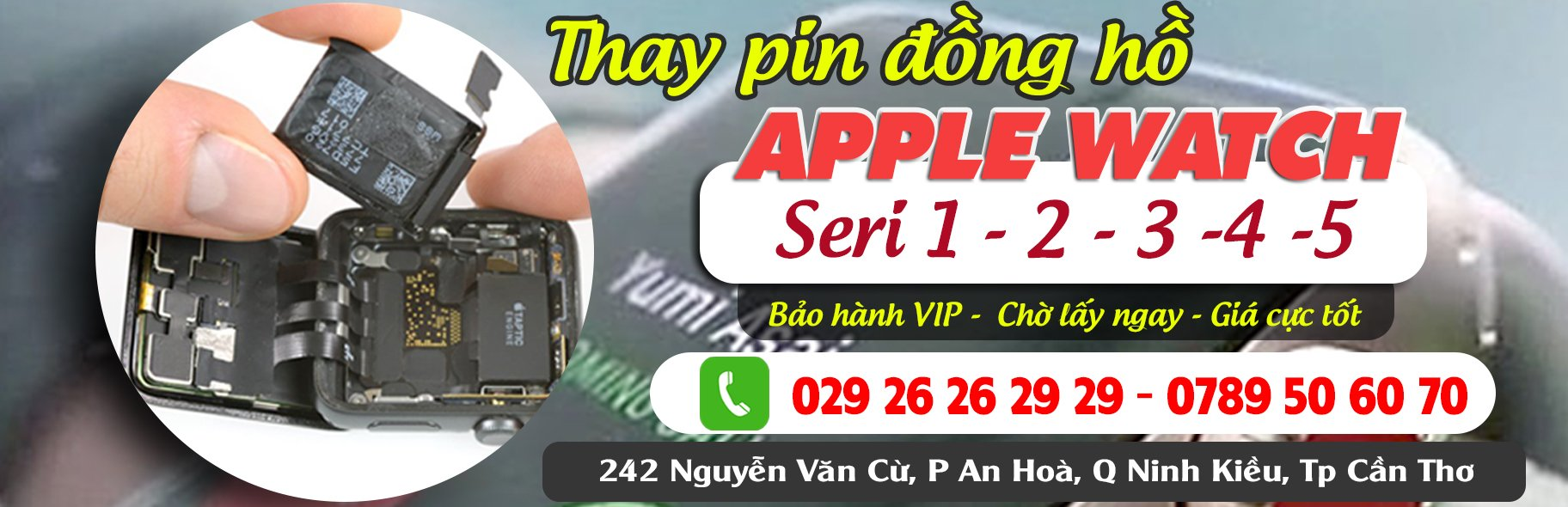 Thay Pin apple Watch Seri 1 2 3 4 5 6