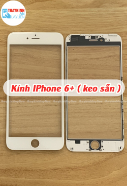 Kính IPhone 6+ 6 Plus ( keo sẵn )